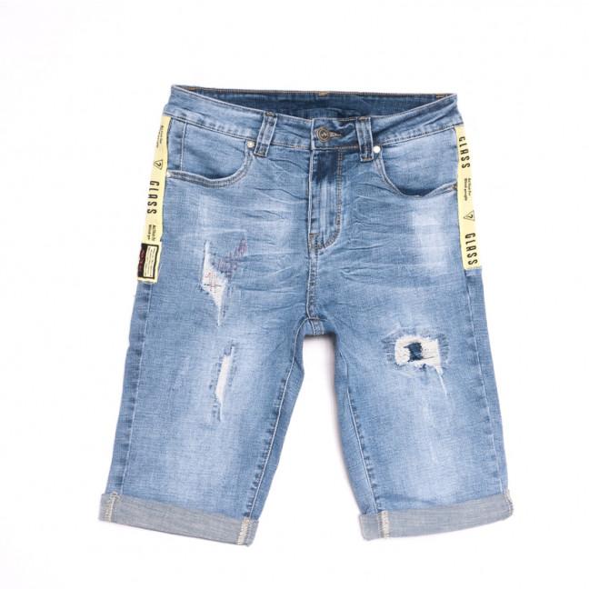 2070 New Jeans шорты джинсовые мужские молодежные синие стрейчевые (28-36, 8 ед.) New Jeans: артикул 1107064