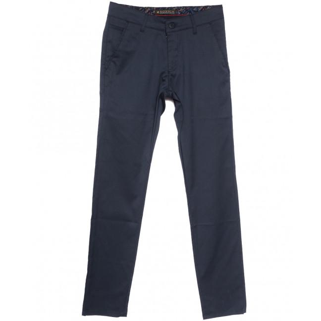 0102 Konica брюки мужские темно-синие весенние стрейчевые (30-38, 7 ед.) Konica: артикул 1105844