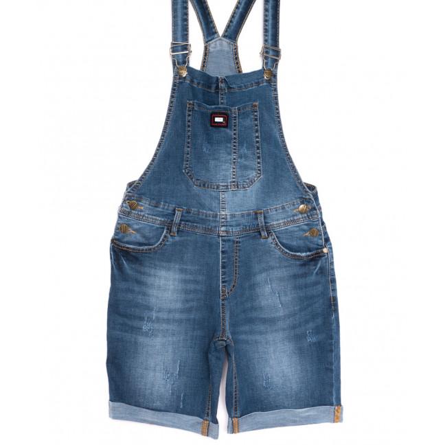 6616-2 Y Relucky сарафан джинсовый с царапками синий весенний стрейчевый (25-30, 6 ед.) Relucky: артикул 1106116