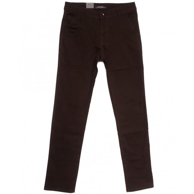 3012 LS брюки мужские коричневые весенние стрейчевые (29-38, 8 ед.) LS: артикул 1106260