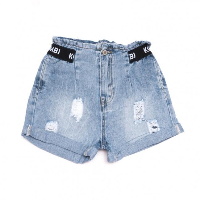 3729 New Jeans шорты джинсовые женские с рванкой синие коттоновые (25-30, 6 ед.) New Jeans: артикул 1107001
