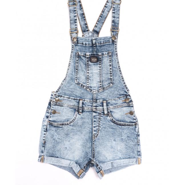 6624-5 Y Relucky комбинезон-шорты джинсовый с царапками синий стрейчевый (25-30, 6 ед.) Relucky: артикул 1106537