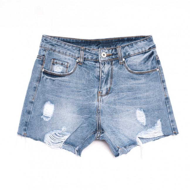3717 New Jeans шорты джинсовые женские с рванкой синие коттоновые (25-30, 6 ед.) New Jeans: артикул 1106989