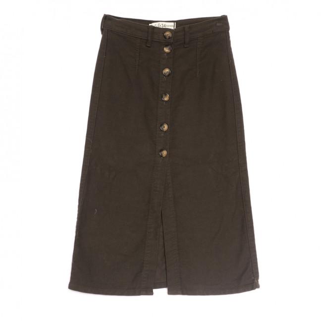 1799 Real Focus юбка джинсовая на пуговицах коричневая весенняя коттоновая (34-42,евро, 6 ед.) Real Focus: артикул 1107119
