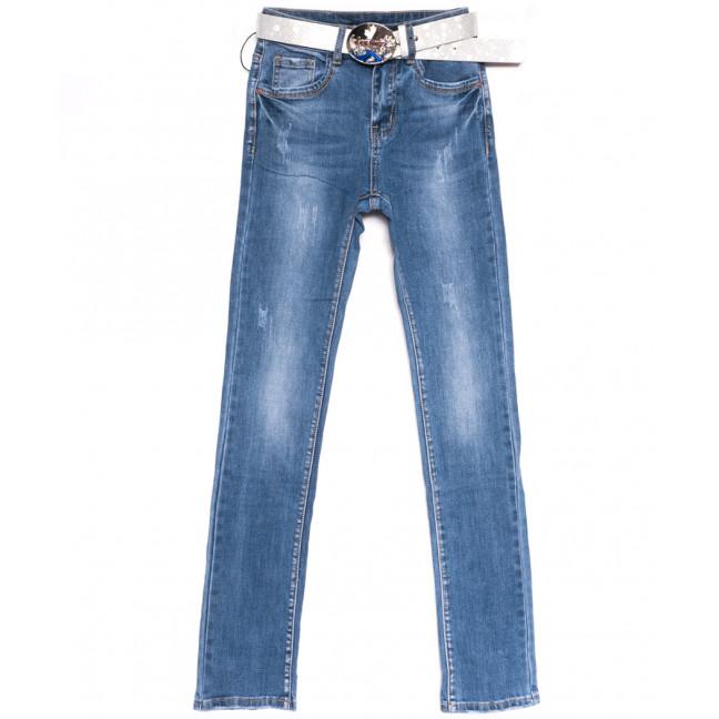 9508 LDM джинсы женские с царапками синие весенние стрейчевые (25-30, 6 ед.) LDM: артикул 1106391