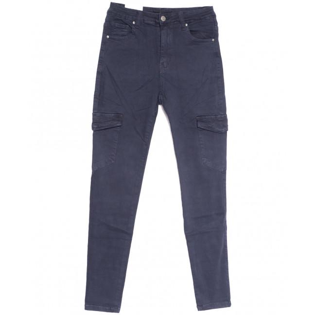 9079-10 темно-синие Saint Wish джинсы женские с боковыми карманами полубатальные весенние стрейчевые (28-33, 6 ед.) Saint Wish: артикул 1105805