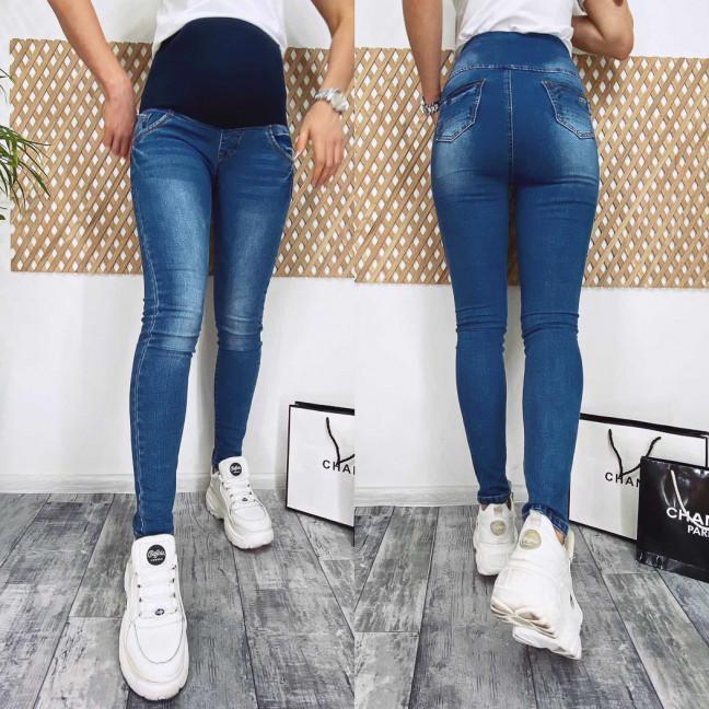 0003 Lan Bai джинсы полубатальные для беременных синие весенние стрейчевые (28-33, 6 ед.) Lan Bai: артикул 1105344
