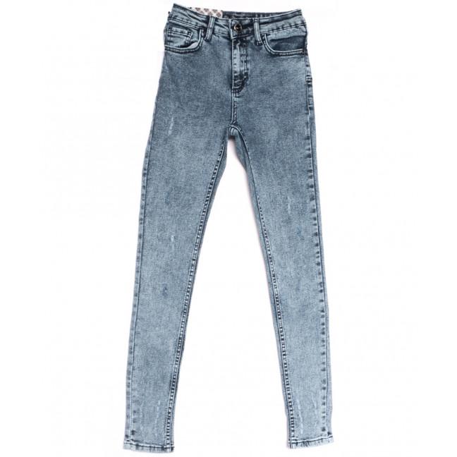 0761 Redmoon джинсы женские с царапкой синие весенние стрейчевые (25-30, 6  ед.) REDMOON: артикул 1106957