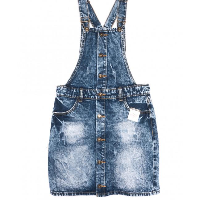 3300-5 Y Relucky сарафан джинсовый стильный синий весенний стрейчевый (25-30, 6 ед.) Relucky: артикул 1106135