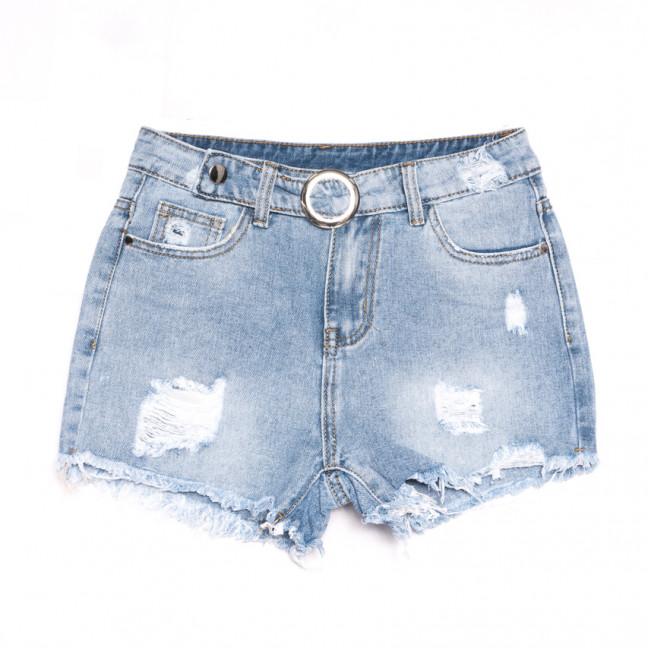3728 New Jeans шорты джинсовые женские с рванкой синие коттоновые (25-30, 6 ед.) New Jeans: артикул 1106990