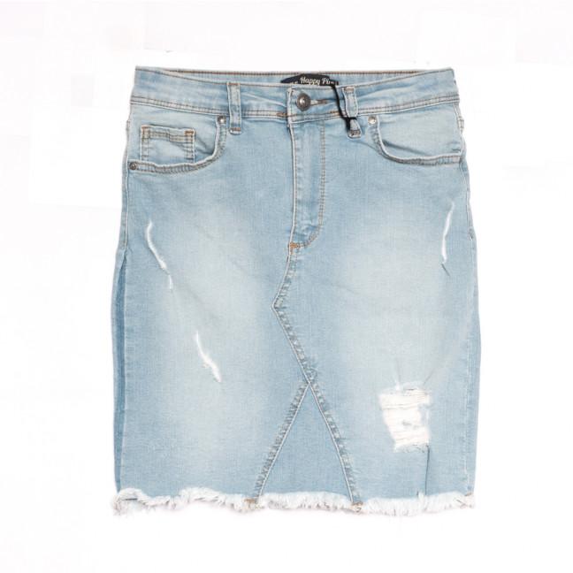 0699 Happy Pink юбка джинсовая с рванкой синяя весенняя стрейчевая (S-XL, 6 ед.) Happy Pink: артикул 1107131