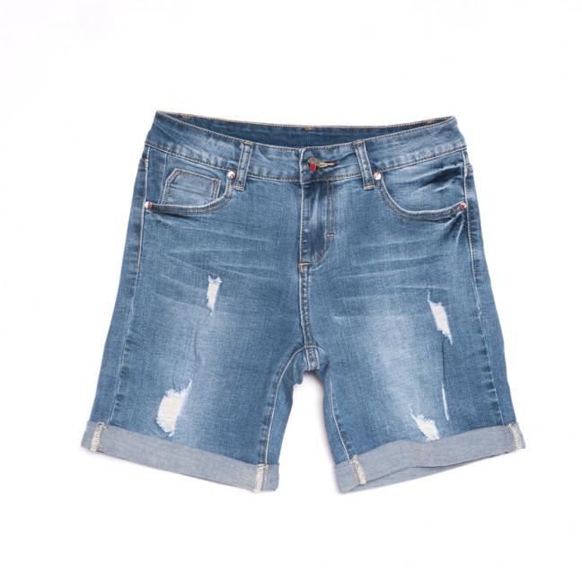 3696 New Jeans шорты джинсовые женские с рванкой синие стрейчевые (25-30, 6 ед.) New Jeans: артикул 1106962