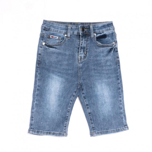 3747 New Jeans шорты джинсовые женские с царапками синие стрейчевые (25-30, 6 ед.) New Jeans: артикул 1107042