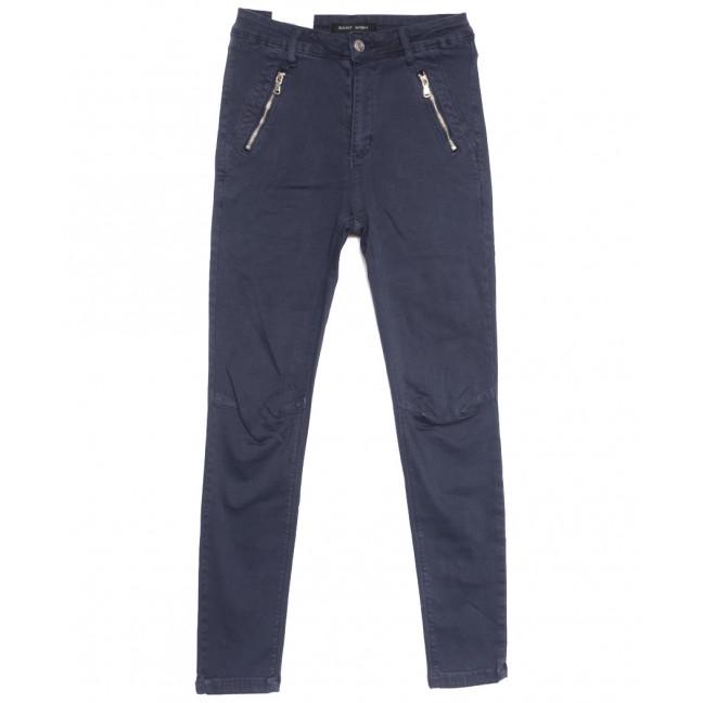 9080-10 темно-синие Saint Wish брюки женские стильные весенние стрейчевые (25-30, 6 ед.) Saint Wish: артикул 1105822