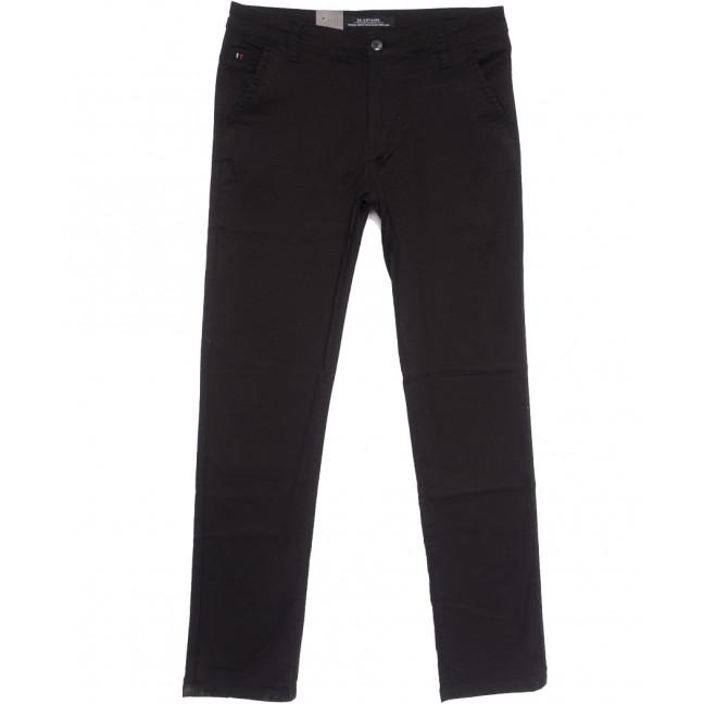 3056 LS брюки мужские черные весенние стрейчевые (29-38, 8 ед.) LS: артикул 1106257