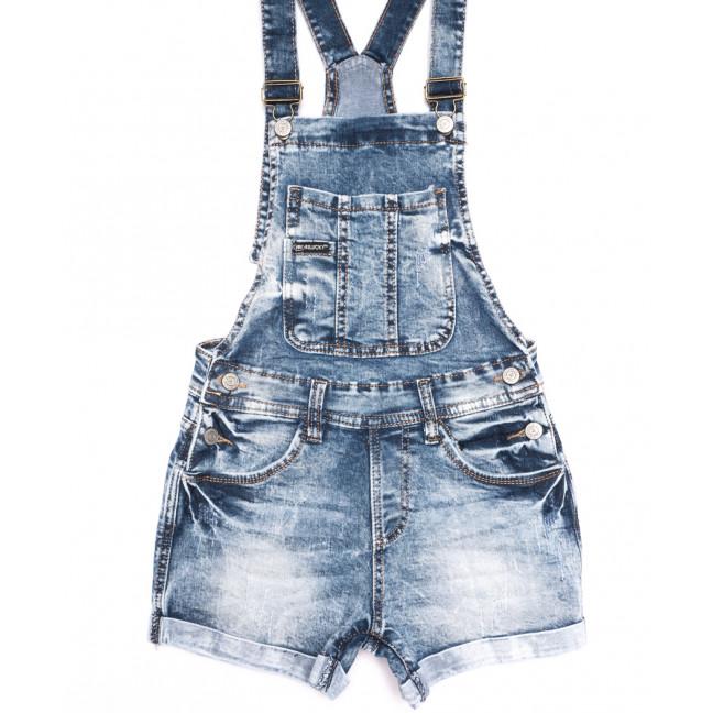 6622-5 Y Relucky комбинезон-шорты джинсовый с царапками синий стрейчевый (25-30, 6 ед.) Relucky: артикул 1106538
