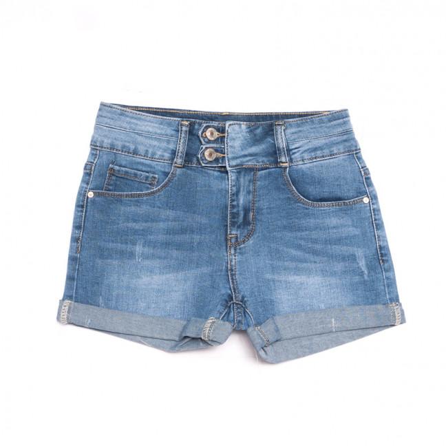 3744 New Jeans шорты джинсовые женские с царапками синие стрейчевые (25-30, 6 ед.) New Jeans: артикул 1107027
