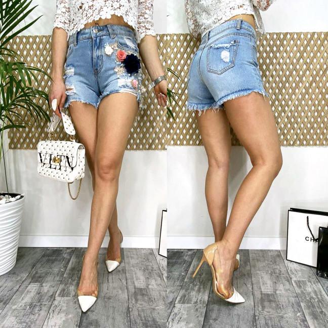 0963 Fleur шорты джинсовые женские котоновые (6 ед. размеры: 25.26.27.28.29.30) Fleur: артикул 1106250