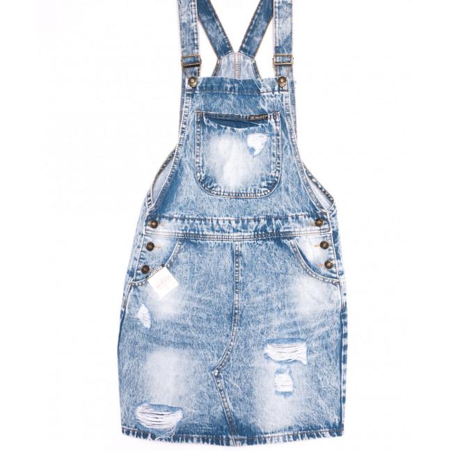 3307-5 Y Relucky сарафан джинсовый стильный синий весенний стрейчевый (25-30, 6 ед.) Relucky: артикул 1106143