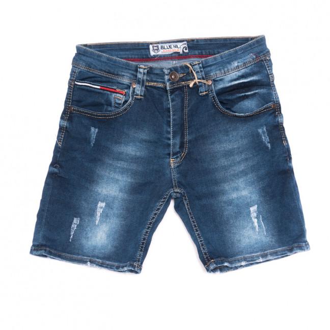6577 Blue Nil шорты мужские с царапками синие стрейчевые (29-36, 8 ед.) Blue Nil: артикул 1106662