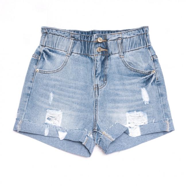 3710 New Jeans шорты джинсовые женские с рванкой синие коттоновые (25-30, 6 ед.) New Jeans: артикул 1106976
