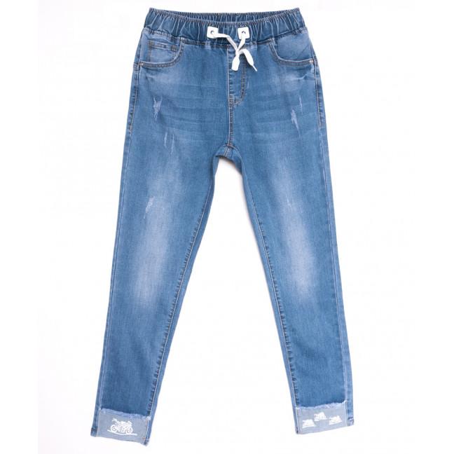 9477 LDM джинсы женские полубатальные на резинке с царапками весенние стрейчевые (28-33, 6 ед.) LDM: артикул 1106053