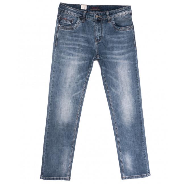 18002 Ferrars джинсы мужские с царапками синие весенние стрейчевые (29-38, 8 ед.) Feerars: артикул 1105917
