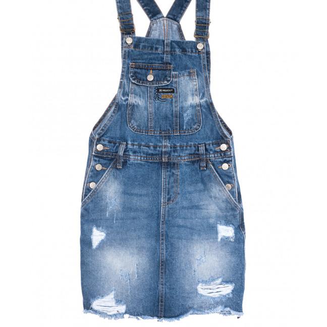 0881-2 Y Relucky сарафан джинсовый стильный синий весенний коттоновый (25-30, 6 ед.) Relucky: артикул 1105968