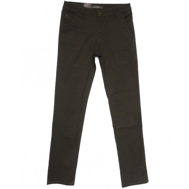 3057 LS брюки мужские хаки весенние стрейчевые (29-38, 8 ед.) LS: артикул 1106259