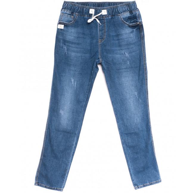 9492 LDM джинсы женские на резинке батальные синие весенние стрейчевые (31-38, 6 ед.) LDM: артикул 1106388