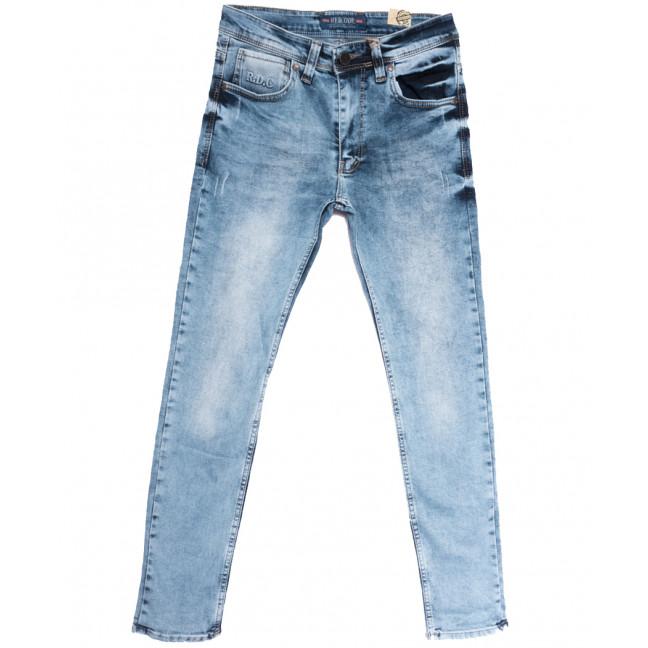 6776 Redcode джинсы мужские с царапками синие весенние стрейчевые (29-36, 8 ед.) Redcode: артикул 1106655