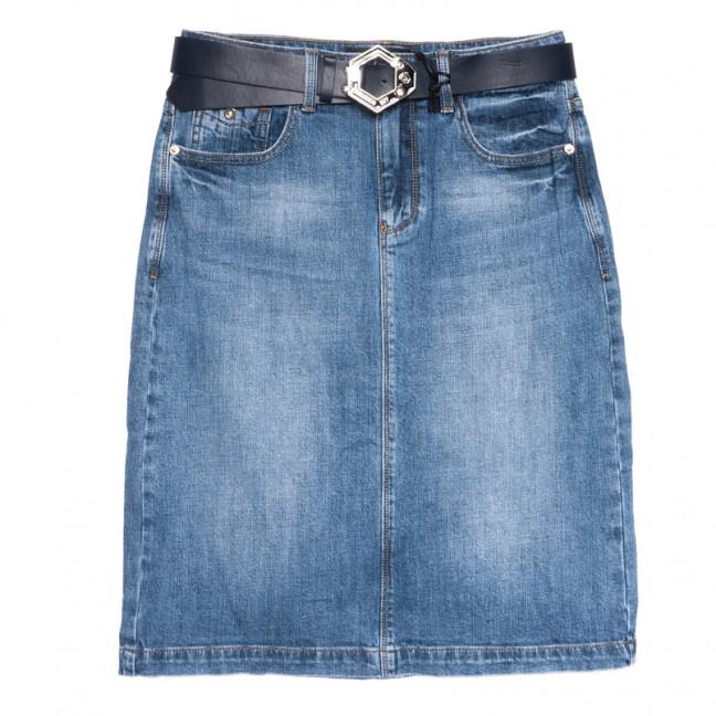 9413 Dimarkis Day юбка джинсовая полубатальная синяя весенняя стрейчевая (28-33, 6 ед.) Dimarkis Day: артикул 1106163