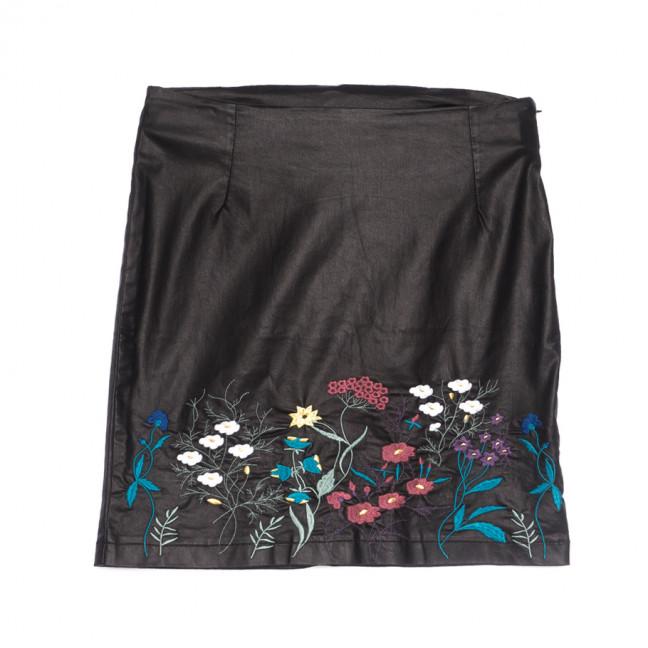 1801 Connemara юбка из эко-кожи черная весенняя стрейчевая (34-42,евро, 5 ед.) Connemara: артикул 1107122