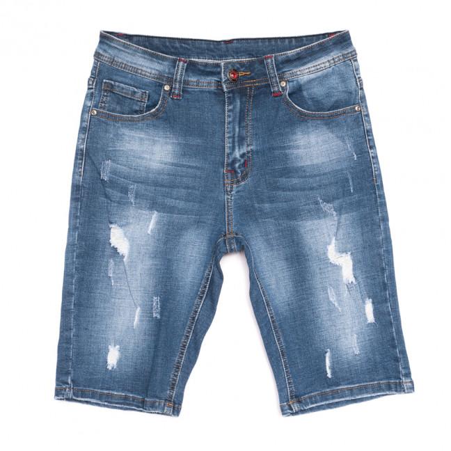 2053 New jeans шорты джинсовые мужские с рванкой синие стрейчевые (29-38, 8 ед.) New Jeans: артикул 1106417