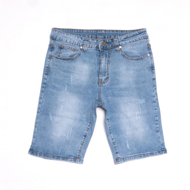 2073 New Jeans шорты джинсовые мужские с царапками синие стрейчевые (29-38, 8 ед.) New Jeans: артикул 1107017