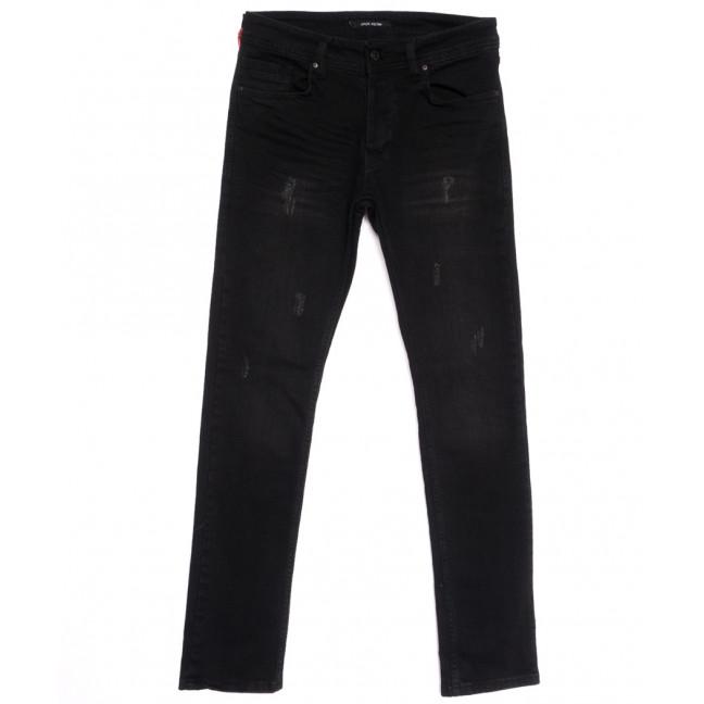 0019 Jack Kevin джинсы мужские с царапками черные весенние стрейчевые (29-38, 8 ед.) Jack Kevin: артикул 1105859