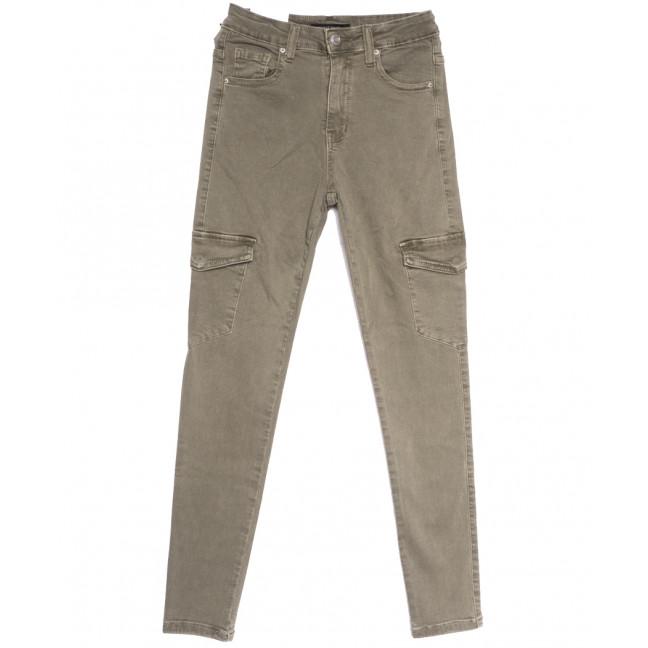 9078-11 хаки Saint Wish брюки карго женские весенние стрейчевые (25-30, 6 ед.) Saint Wish: артикул 1105783