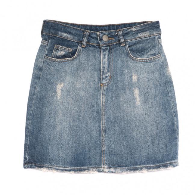 1803 Defile юбка джинсовая с царапками синяя весенняя коттоновая (34-42,евро, 6 ед.) Defile: артикул 1107127