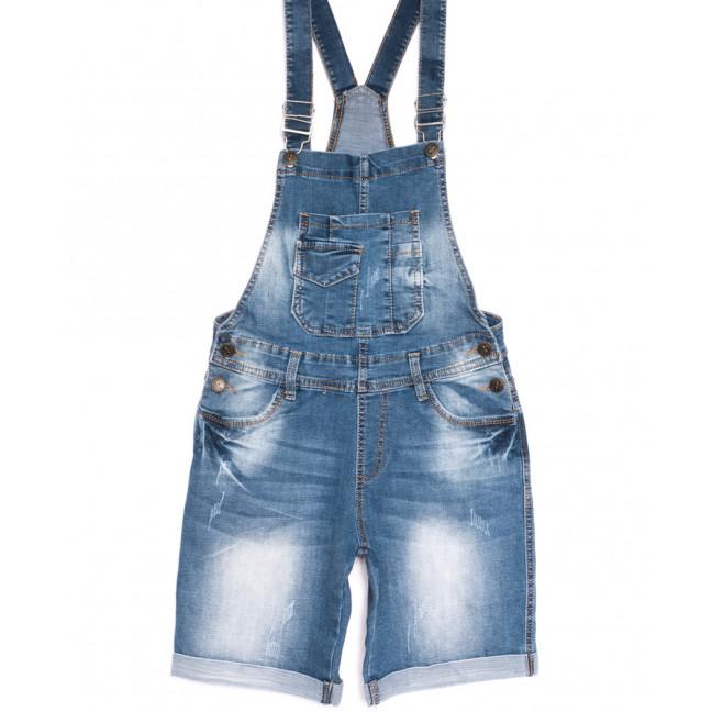 6619-2 Y Relucky сарафан джинсовый с царапками синий весенний стрейчевый (25-30, 6 ед.) Relucky: артикул 1106115