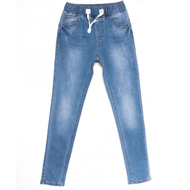 9476 LDM джинсы женские на резинке с царапками синие весенние стрейчевые (25-30, 6 ед.) LDM: артикул 1106054