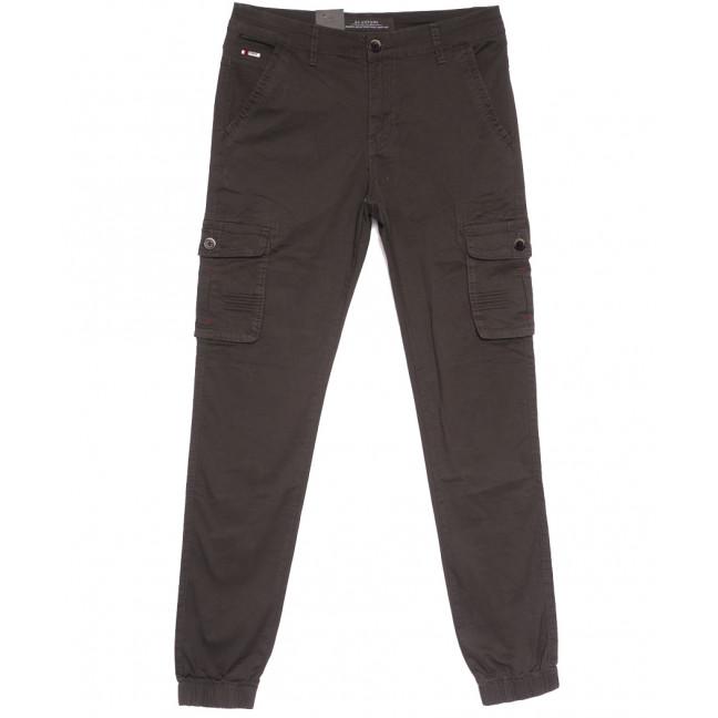 3053-А LS брюки карго молодежные коричневые весенние стрейчевые (28-36, 8 ед.) LS: артикул 1106264