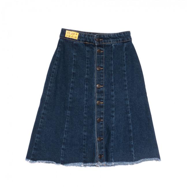 1200 юбка джинсовая синяя весенняя коттоновая (S-XL, 6 ед.) Юбка: артикул 1107135