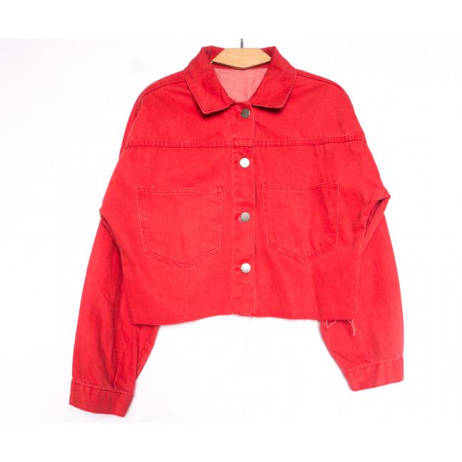1793 красная Defile куртка джинсовая женская весенняя коттоновая (S-XL, 5 ед.) Defile: артикул 1107113