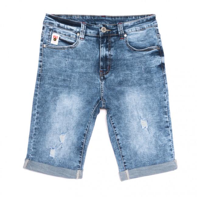 2065 New jeans шорты джинсовые мужские с рванкой синие стрейчевые (29-38, 8 ед.) New Jeans: артикул 1106425