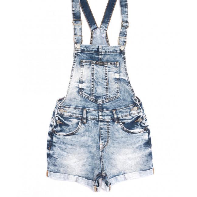 6623-5 Y Relucky комбинезон-шорты джинсовый с царапками синий стрейчевый (25-30, 6 ед.) Relucky: артикул 1106534