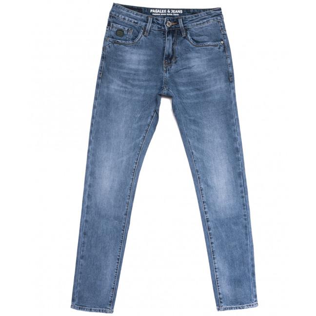6004 Pagalee джинсы мужские молодежные синие весенние стрейчевые (28-36, 8 ед.) Pagalee: артикул 1105933