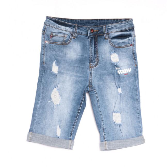 2052 New jeans шорты джинсовые мужские молодежные с рванкой синие стрейчевые (28-36, 8 ед.) New Jeans: артикул 1106421