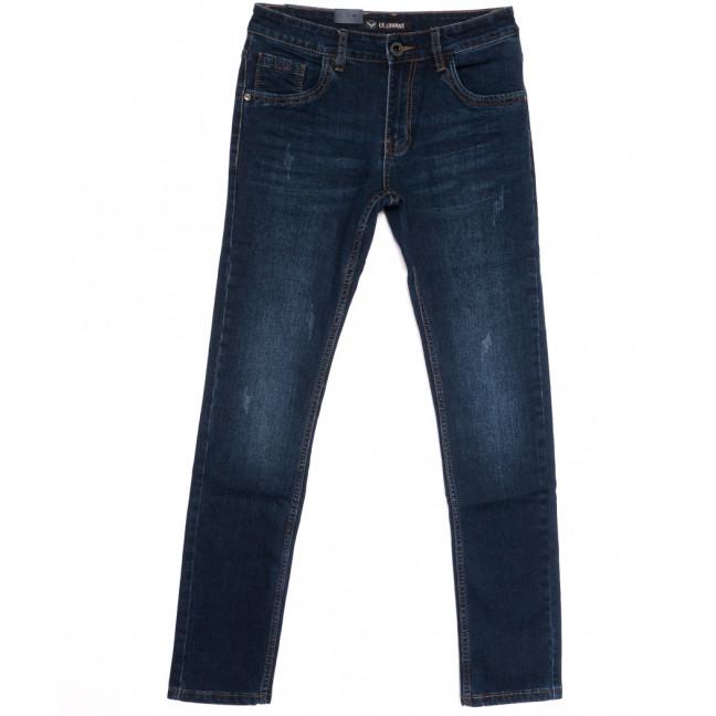 1048 LS джинсы мужские молодежные с царапками синие весенние стрейчевые (28-36, 8 ед.) LS: артикул 1106337