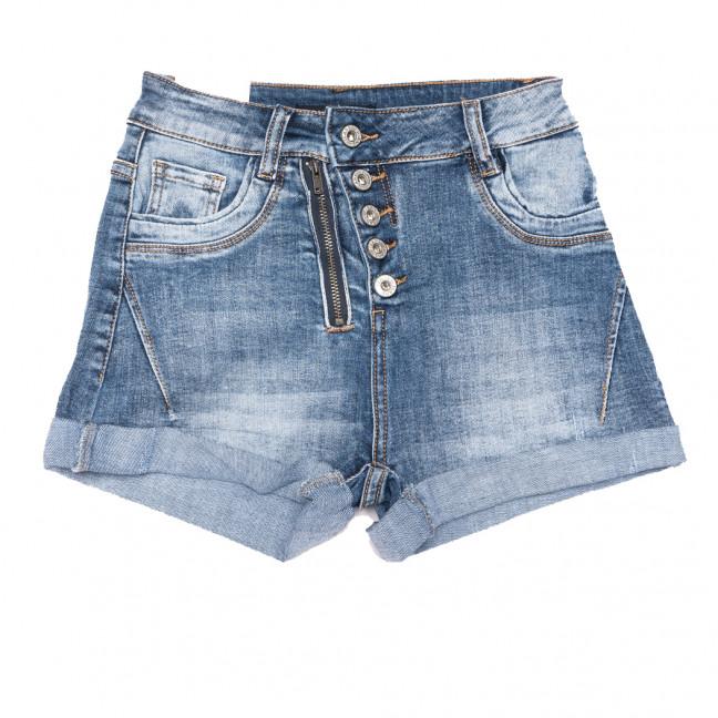 9133 Saint Wish шорты джинсовые женские на пуговицах синие стрейчевые (25-30, 6 ед.) Saint Wish: артикул 1108104