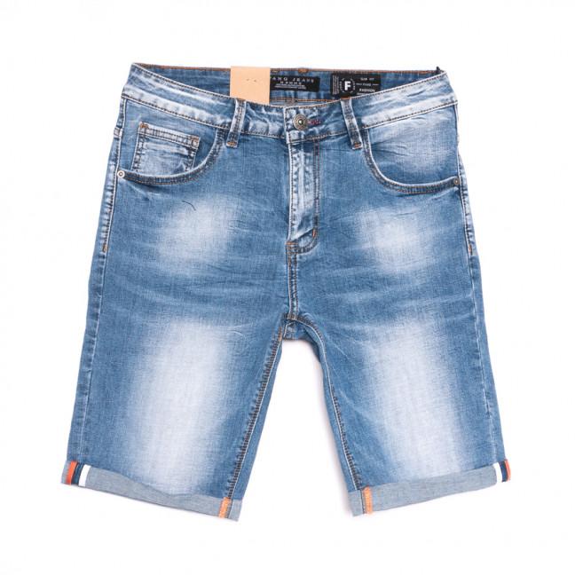 2239 Fang шорты джинсовые мужские синие стрейчевые (30-38, 8 ед.) Fang: артикул 1107639